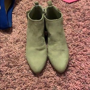 tan booties size 6